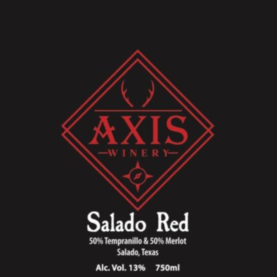 Product image for Salado Red wine from Axis Winery